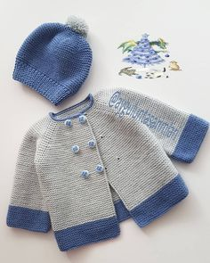 Baby cardigan - made- hole - fashion- fashion and lifestyle portal Baby Cardigan Knitting Pattern Free, Baby Boy Knitting Patterns, Knitted Baby Cardigan, Knit Baby Sweaters, Baby Clothes Patterns, Baby Hats Knitting, Knitting For Kids, Baby Patterns, Knit Patterns