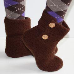 Simply Felted Ladies Slippers - Crochet Pattern. $4.99, via Etsy.