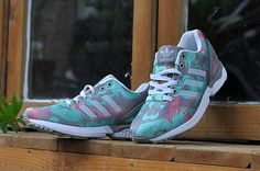 finest selection 24850 c6a2e Adidas Nmd, Adidas Zx Flux, Adidas Shoes, Shoes Sneakers, Pink Running Shoes