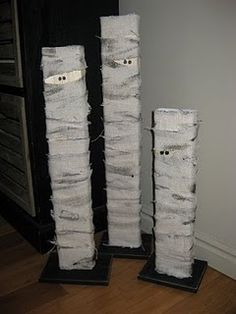 2x4 Mummy Family-MUST MAKE THESE!! Easy for grandkids to do.