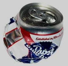 Crushed PBR can