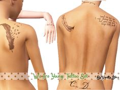 Spring4Sims » We Are Young, Tattoo Set by Vanity Sims