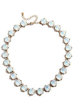 Shine All Mine Blue Rhinestone Statement Necklace at Lulus.com!