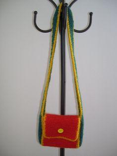 Felted Over the Shoulder Sachel Bag by jmbdesigns on Etsy