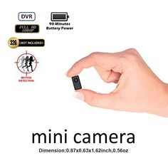 Mini Spy Camera Portable Fuvision Tiny Size Hidden Nanny Camera with Motion Detection Recording and 90 Minutes Battery Life Perfect Indoor and Outdoor Covert Security Camera for Home and Office Security Surveillance, Security Alarm, Surveillance System, Body Worn Camera, Mini Spy Camera, Dslr Photography Tips, Wireless Home Security Systems, Security Products, Security Tips