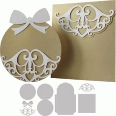 Silhouette Design Store - View Design #67999: christmas card and envelope