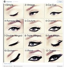 12 Eyeliner Varianten For the dramatic look: An eyeliner ennobles the eye make-up - provided you know how to apply it correctly. Make-up Artist Hung Vanngo has now introduced 12 different variations o Eyeliner Make-up, How To Apply Eyeliner, Dramatic Eyeliner, Black Eyeliner, Glitter Pigment Eyeshadow, Makeup Eyeshadow, Yellow Eyeshadow, Eyeshadow Base, Beauty Makeup