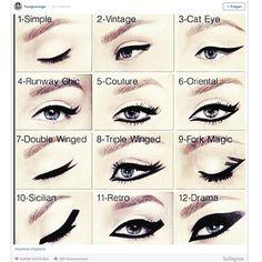 Für den dramatischen Augenaufschlag: Ein Eyeliner veredelt das Augen-Make-up - vorausgesetzt, man weiß, wie man ihn richtig aufträgt. Make-up Artist Hung Vanngo hat jetzt auf Instagram zwölf unterschiedliche Varianten vorgestellt - von Vintage über Cat-Eye bis Drama!