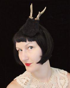 Roe Deer Antler Headband  Black Forest Faun Fawn by doublespeak, $70.00