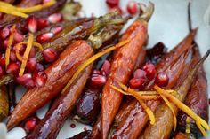 Carrots, pomegranate, pom juice, ginger, orange zest, cinnamon (Simmer ...