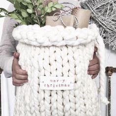 Knitted gift sack #christmas                                                                                                                                                                                 More
