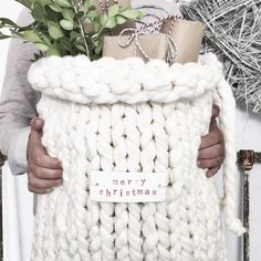 Knitted gift sack #christmas                                                                                                                                                                                 More