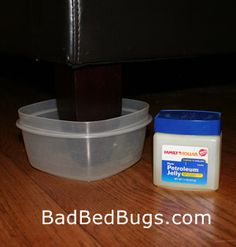 bed bug climb up blocker.  Don't have them myself, thank goodness, but I've heard how nasty and contagious these are, so ... just in case.  Some preventative tips here.