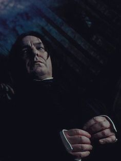 """I like to think that in this scene, Snape is thinking something along the lines of, """"STFU, you pompous windbag. Severus Snape Always, Snape Harry Potter, Professor Severus Snape, Harry Potter Severus Snape, Severus Rogue, Harry Potter Characters, Alan Rickman Always, Alan Rickman Severus Snape, Mein Crush"""