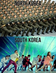 Difference between north korea / south korea