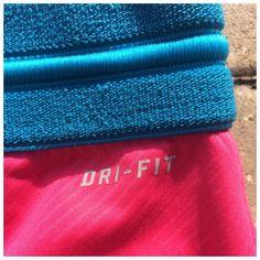 NIKE DRI-FIT SHORTS Blue and pink Dri-Fit Nike athletic shorts polyester/spandex (#10 Nike Shorts