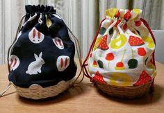 浴衣に似合う巾着付きカゴバッグを100均の材料で♡手ぬぐい・カゴ・紐、これだけあれば作れちゃう!簡単・可愛い・リーズナブルの3拍子揃ったお手軽DIY、作り方と作品例をご紹介します♪
