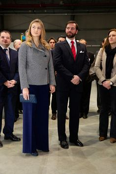 Hereditary Grand Duke Guillaume and Hereditary Grand Duchess Stephanie visited Foetz in souther Luxembourg to open the country's first learning Factory, 31.01.14