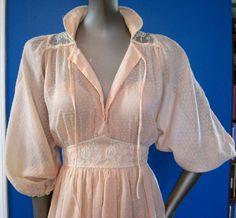 Vintage Romantic Gunne Sax Style Gauze Swiss Dot Festival Prairie Maxi Dress S. $58.00, via Etsy.