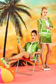 Malibu Barbie-Inspired Fashions - The Moschino Cheap & Chic Spring 2014 Lookbook is Outrageously Fun (GALLERY)