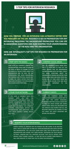 InterQuest Crib Sheet 20 - Interview Research Top Tips