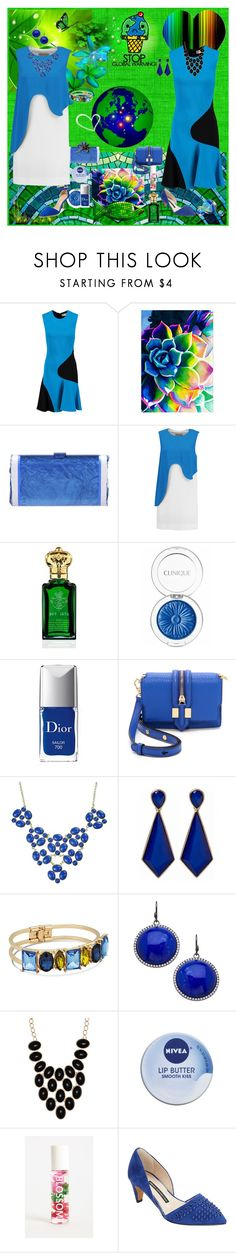 """WE ARE ONE WORLD"" by kalenalexis ❤ liked on Polyvore featuring Emilio Pucci, Edie Parker, Clive Christian, Clinique, Christian Dior, Rebecca Minkoff, J by Jasper Conran, Madison Precious Jewels, ALDO and Nivea"
