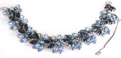 Kramer Beautiful Blue Rhinestone Vintage Bracelet | eBay