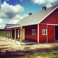 My dream barn is almost done! #PhalenFarms