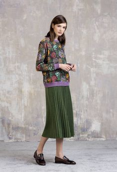 5a6095547 Skirt with Pleats - Skirt   Ivko Woman Mid Length Skirts, Dark Autumn,  Effortless