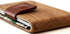 And an oak wallet that won't bend in your pocket. | 31 Beautiful Products You…