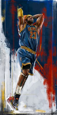 LeBron James 'NBA Playoffs' Painting