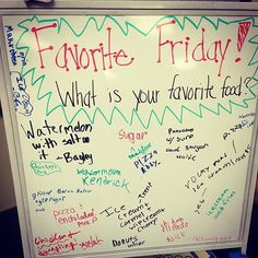 Another Morning Meeting that can be done more than once- Favorite Friday Journal Prompts, Writing Prompts, Writing Topics, Teaching Resources, Teaching Tools, School Resources, Teaching Ideas, Morning Board, Friday Morning