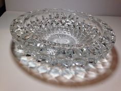 Vintage Large Round Cut Crystal Ashtray ****NO RESERVE****