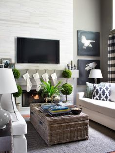Project 8: Install a TV Above the Fireplace - 10 Remodeling Projects to Do Before the Holidays on HGTV