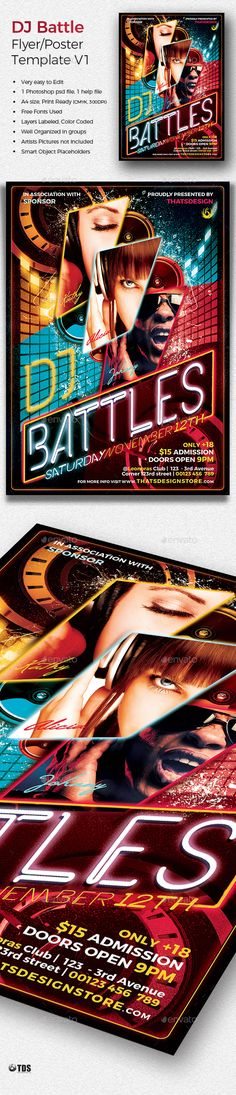 Rap Battle Showdown Flyer Template  Rap Battle Flyer Template