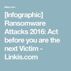 [Infographic] Ransomware Attacks 2016: Act before you are the next Victim - Linkis.com