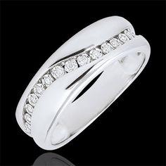 cadeau femme Bague or blanc et diamants - Edenamour Multi-diamants