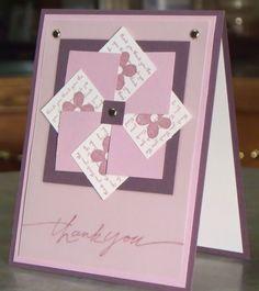 Thank You Card, Stampin Up Mini Messages Pinwheel Thanks