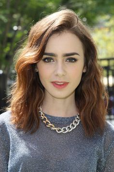 Lily Collins' Tousled Waves