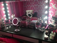 Makeup room,  A hollywood vanity style makeup room :) Candylovesbeauty