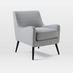 "Book Nook Armchair / Location: 3rd Fl / Color: Prints, Feather Gray / Size: 31.1""W x 25.8""D x 32.3""H / Cost: $349 / Availability: In stock as of 04.21 (1-3 wks)"