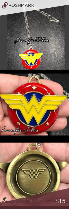Wonder Woman Necklace Wonder Woman Necklace  Perfect for birthdays, photos, dress up, everyday, or Best gift idea for women - mom- girlfriend - best friend  :) Wonder Woman is 5.5*6cm  ✬✬Colors may appear different on various monitors✬✬ Jewelry Necklaces
