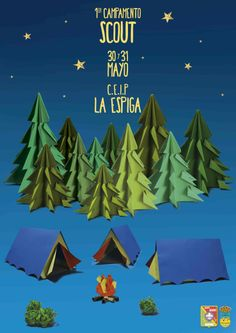 Cartel campamento Scout