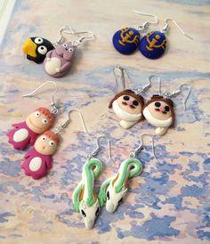 Ghibli mix fimo Handmade earrings!