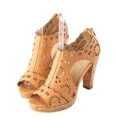 Grace giftGrace gift 官方購物網站 - 花朵鏤空魚口高跟涼鞋