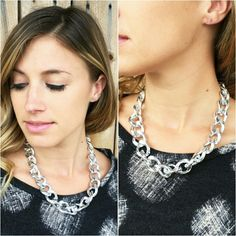 CHUNKY CHAIN NECKLACE Brand new! Colors: Gold & Silver. Jewelry Necklaces