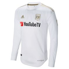 4f40fc02339 Men s LAFC adidas White 2018 Secondary Authentic Long Sleeve Jersey. World Soccer  ShopMajor ...
