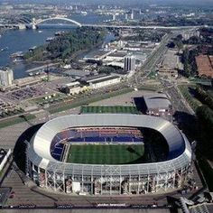 Soccer Tips. One of the best sports on earth is soccer, generally known as football in numerous countries around the world. Soccer Stadium, Football Stadiums, Rotterdam, Countries Around The World, Around The Worlds, Stadium Architecture, Architecture Design, Durban South Africa, Sports Complex