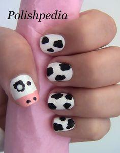 Fuzzy Cow Nail Art - YouTube