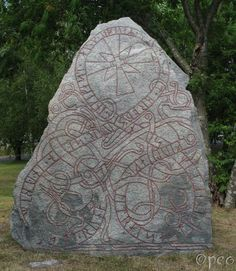 Vik    Kjallakr(?)/Kjullakr(?) had the stone raised in memory of his son Ingifastr; and Ingvarr also(?) in memory of his brother. And Œpir carved the runes.      A beautiful rune stone, signed by Œpir....